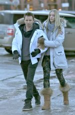 ELLE EVANS and Matthew Bellamy Out in Aspen 12/29/2017