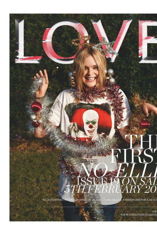 ELLE FANNING for Love Magazine, #19 February 2018