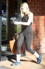 ELLE FANNING in Tights Leaves a Gym in Studio City 12/01/2017