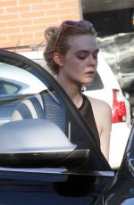 ELLE FANNING in Tights Out in Los Angeles 12/12/2017