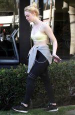 ELLE FANNING Leaves a Gym in Los Angeles 12/15/2017