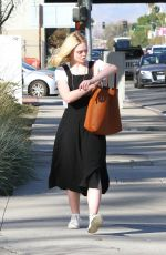 ELLE FANNING Out and About in Los Angeles 12/01/2017