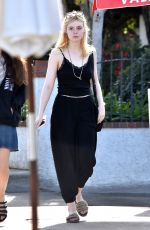 ELLE FANNING Out for Lunch at Sweet Butter Kitchen in Studio City 12/11/2017