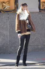 ELSA HOSK Having a Smoke Out in New York 11/30/2017