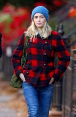 EMILY BLUNT Out and About in New York 11/30/2017