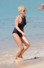EMMA FORBES in Swimsuit at a Beach in Barbados 12/21/2017