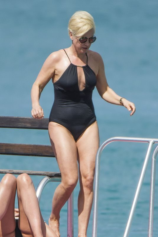 EMMA FORBES in Swimsuit at a Beach in Barbados 12/22/2017