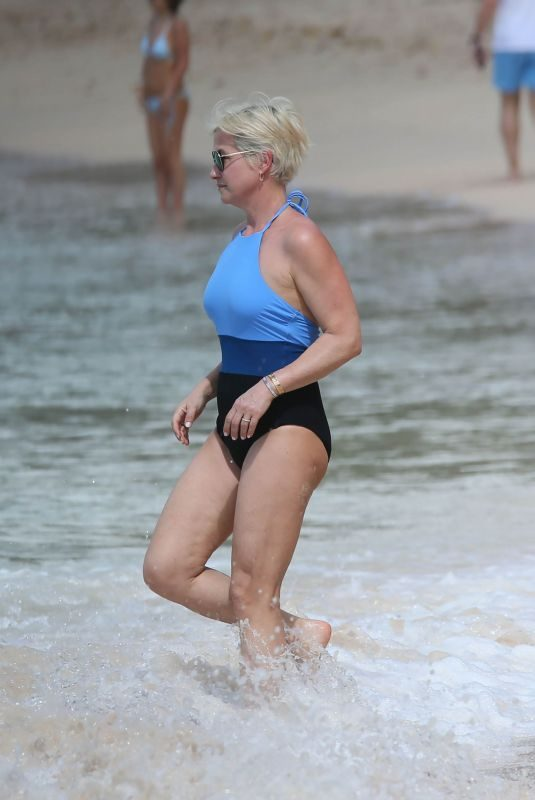 EMMA FORBES in Swimsuit at a Beach in Caribbean 12/26/2017