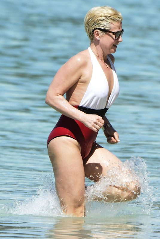 EMMA FORBES in Swimsuit on the Beach in Barbados 12/22/2017