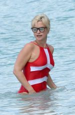 EMMA FORBES in Swimsuit on the Beach in Barbados 12/30/2017