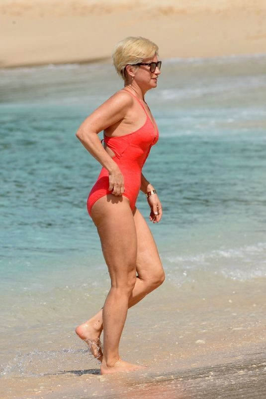 EMMA FORBES in Swimsuit on Vacation in Barbados 12/27/2017