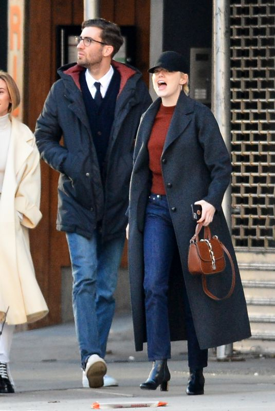 EMMA STONE and Dave McCary Night in New York 12/12/2017