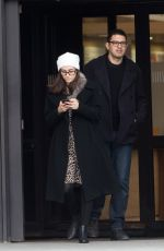 EMMY ROSSUM and Sam Esmail at Charles De Gaulle Airport in Paris 12/26/2017