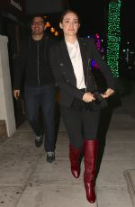 EMMY ROSSUM and Sam Esmail at Matsuhisa Restaurant in Los Angeles 12/10/2017
