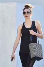 EMMY ROSSUM Heading to a Gym in Los Angeles 12/07/2017