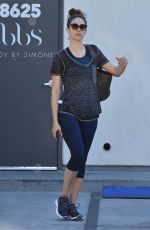 EMMY ROSSUM leaves a Gym in West Hollywood 12/01/2017