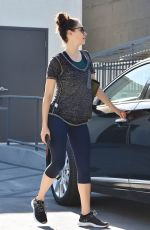 EMMY ROSSUM Leaves Body by Simone in Los Angeles 12/01/2017