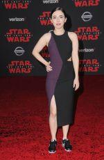 ESTHER POVITSKY at Star Wars: The Last Jedi Premiere in Los Angeles 12/09/2017
