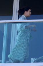 EVA LONGORIA on Balcony of Her Hotel in Miami 12/22/2017