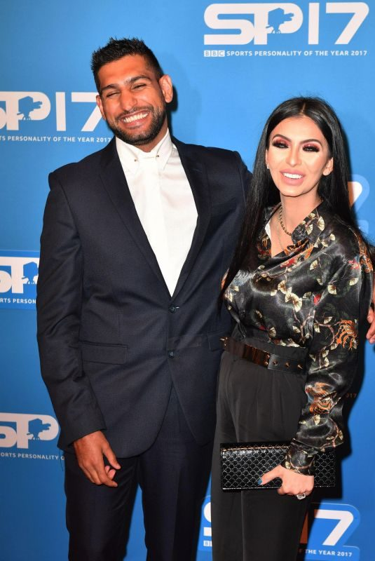 FARYAL MAKHDOOM and Amir Khan at Sports Personality of the Year Awards in Liverpool 12/17/2017