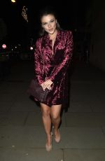 FAYE BROOKES at Coronation Street Christmas Party in Manchester 12/08/2017