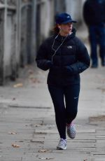 FELICITY JONES Out Jogging in New York 12/08/2017