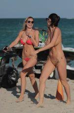 FRANCESCA BRAMBILLA and LIVIA CANALLIS in Bikinis at a Beach in Miami 12/08/2017