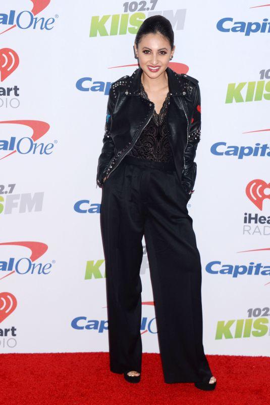 FRANCIA RAISA at Kiis FM's Jingle Ball in Los Angeles 12/01/2017