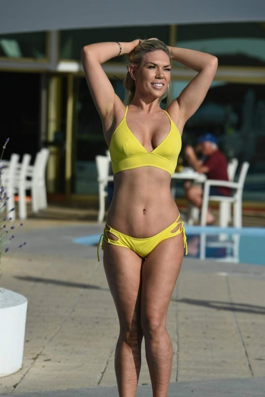 FRANKIE ESSEX in Bikini at a Pool in Cape Verde 11/16/2017