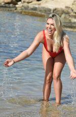 FRANKIE ESSEX in Swimsuit on Vacation in Cape Verde 12/23/2017