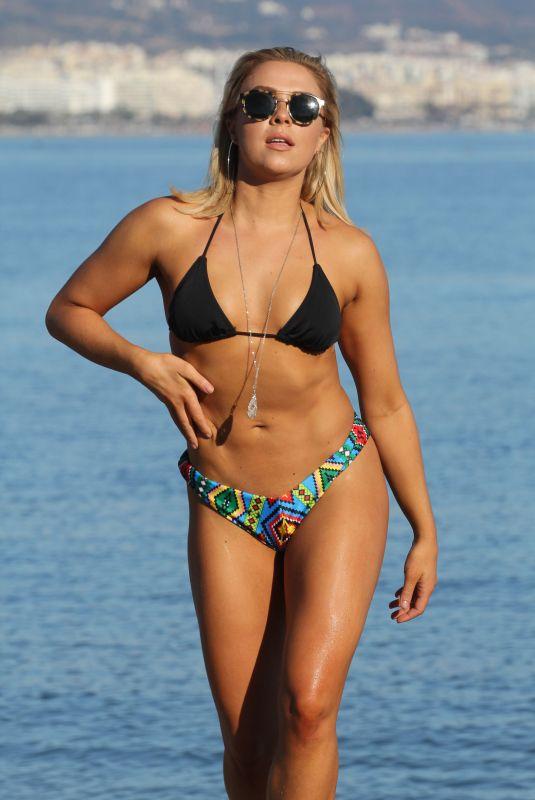 GABBY ALLEN in Bikini at a Beach in Marbella 11/23/2017