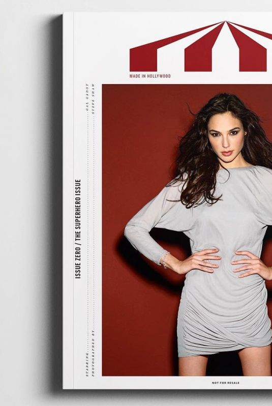 GAL GADOT in Crcus Magazine, Made in Hollywood Issue Zero, January 2018