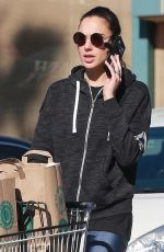 GAL GADOT Shopping at Whole Foods in Los Angeles 12/29/2017