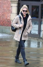 GEMMA ATKINSON Leaves Key 103 Radio in Manchester 12/19/2017