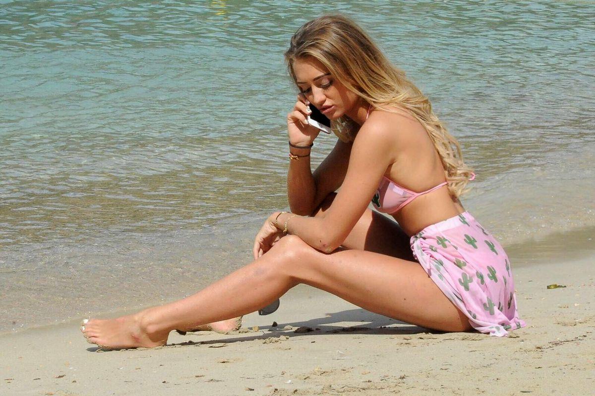Georgia Harrison in Bikini on the beach in Tenerife Pic 16 of 35
