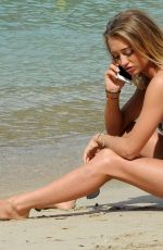 GEORGIA HARRISON in Bikini at a Beach in Tenerife 12/27/2017