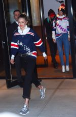 GIGI and BELLA HADID Leaves Their Apartment in New York 12/19/2017
