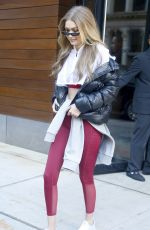GIGI HADID Leaves Her Apartment in New York 12/14/2017