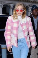 GIGI HADID Out and About in New York 12/20/2017