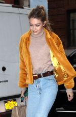 GIGI HADID Out for Coffee in New York 12/15/2017