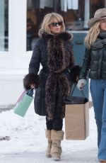 GOLDIE HAWN Out Shopping in Aspen 12/22/2017