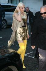 GWEN STEFANI Arrives at BBC Radio 2 in London 12/01/2017