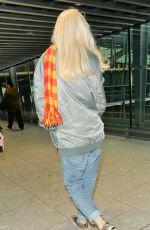 GWEN STEFANI at Heathrow Airport in London 12/02/2017