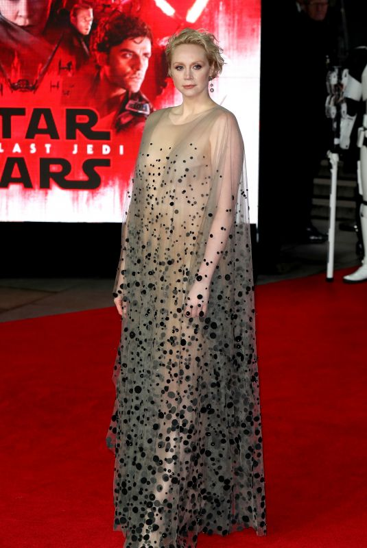 GWENDOLINE CHRISTIE at Star Wars: The Last Jedi Premiere in London 12/12/2017