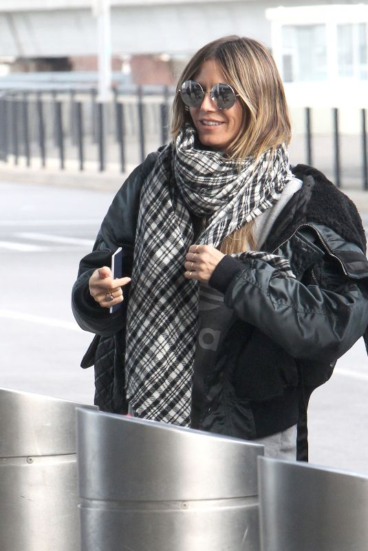 HAIDI KLUM at JFK Airport in New York 12/20/2017