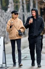 HAILEY CLAUSON and Julian Herrera Out for Coffees in New York 12/13/2017