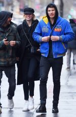 HAILEY CLAUSON and Jullien Herrera Out in New York 12/17/217
