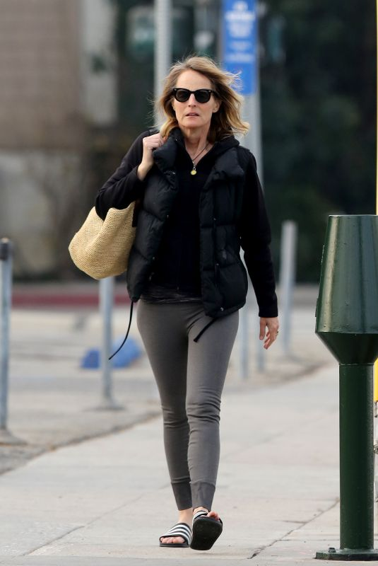 HELEN HUNT Heading to Yoga Class in Los Angeles 12/26/2017