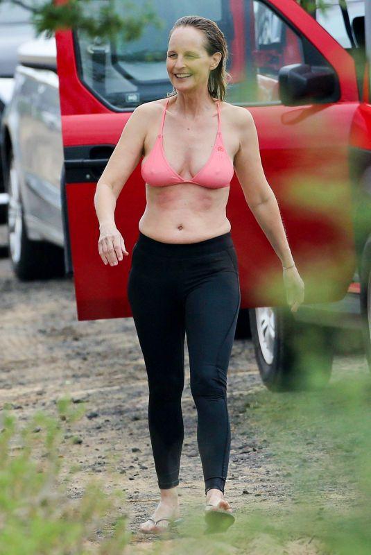 HELEN HUNT in Bikini Top on Vacation in Hawaii 12/20/2017
