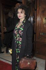 HELENA BONHAM CARTER at Hamilton Musical Press Night in London 12/21/2017